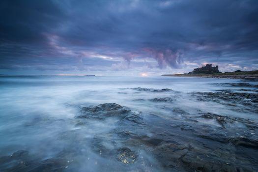 Фото бесплатно Северное море, побережье, закат