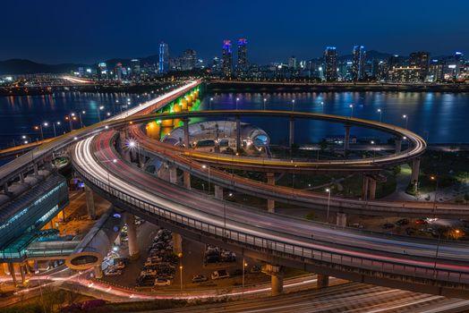 Фото бесплатно ночь, мост, Сеул