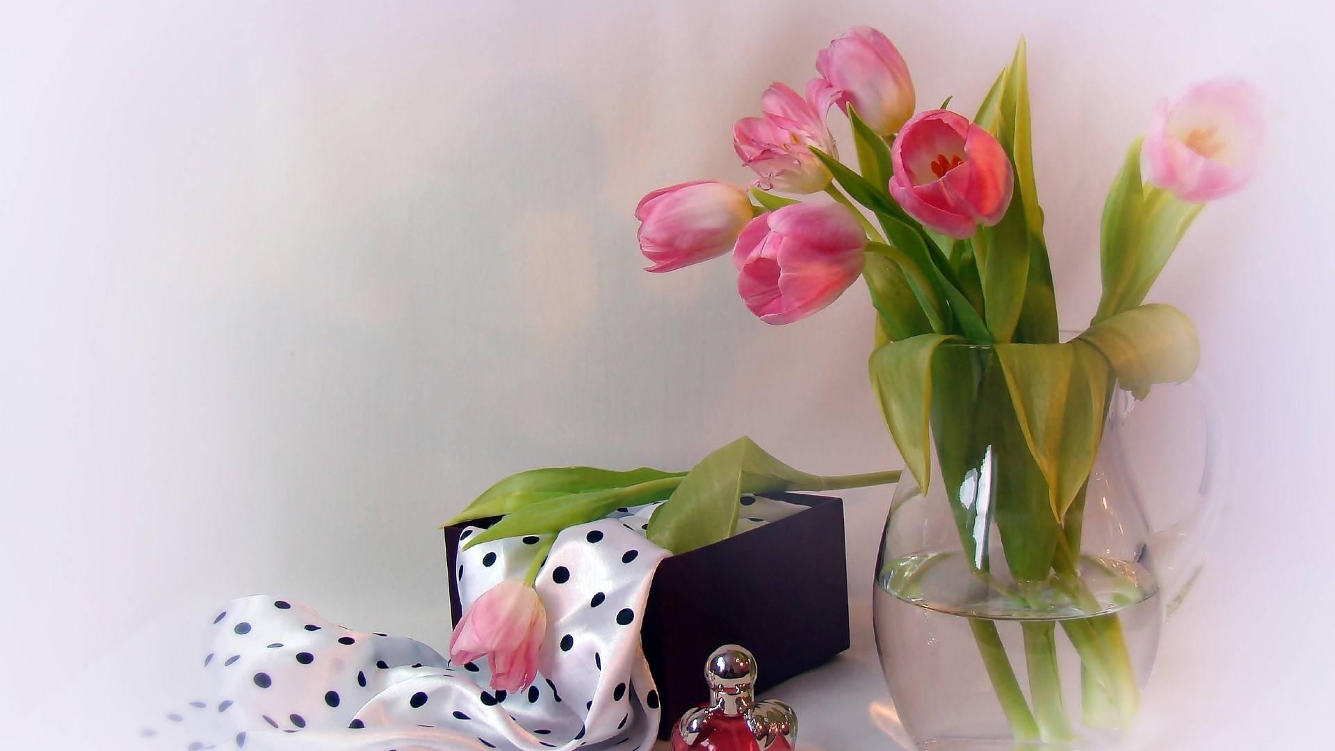 тюльпаны, букет, ваза