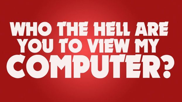 Photo free who the hell are you to view my computer, lettering, red background