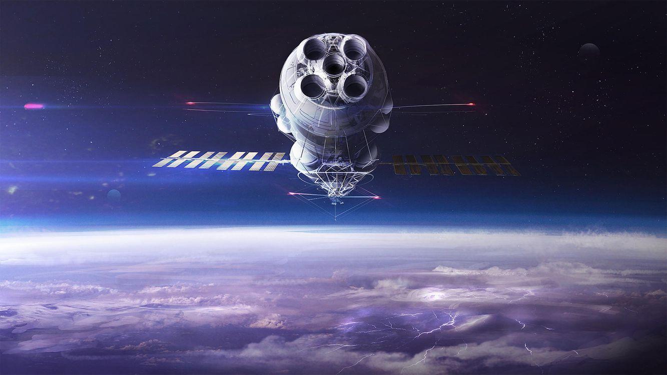 Фото бесплатно космос, спутник, свечение, невесомость, вакуум, галактика, art, космос - скачать на рабочий стол