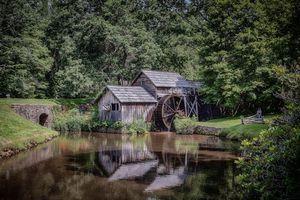 Бесплатные фото Mabry Mill,Virginia,мельница,река,деревья,пейзаж