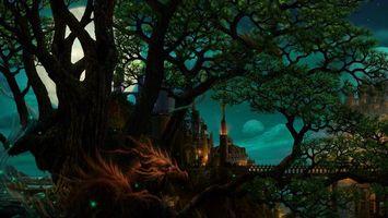 Фото бесплатно Замки, деревья, сказка