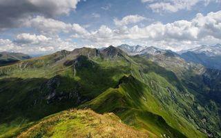 Фото бесплатно горы, облака, вершины