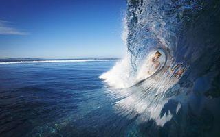 Заставки море,волна,гребень,серфер,доска,скорость