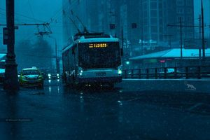 Фото бесплатно ART IRBIS PRODUCTION, Москва, автобус, дорога, туман, снег, Khusen Rustamov, Хусен Рустамов, xusenru, Природа, Россия, Город, мрак