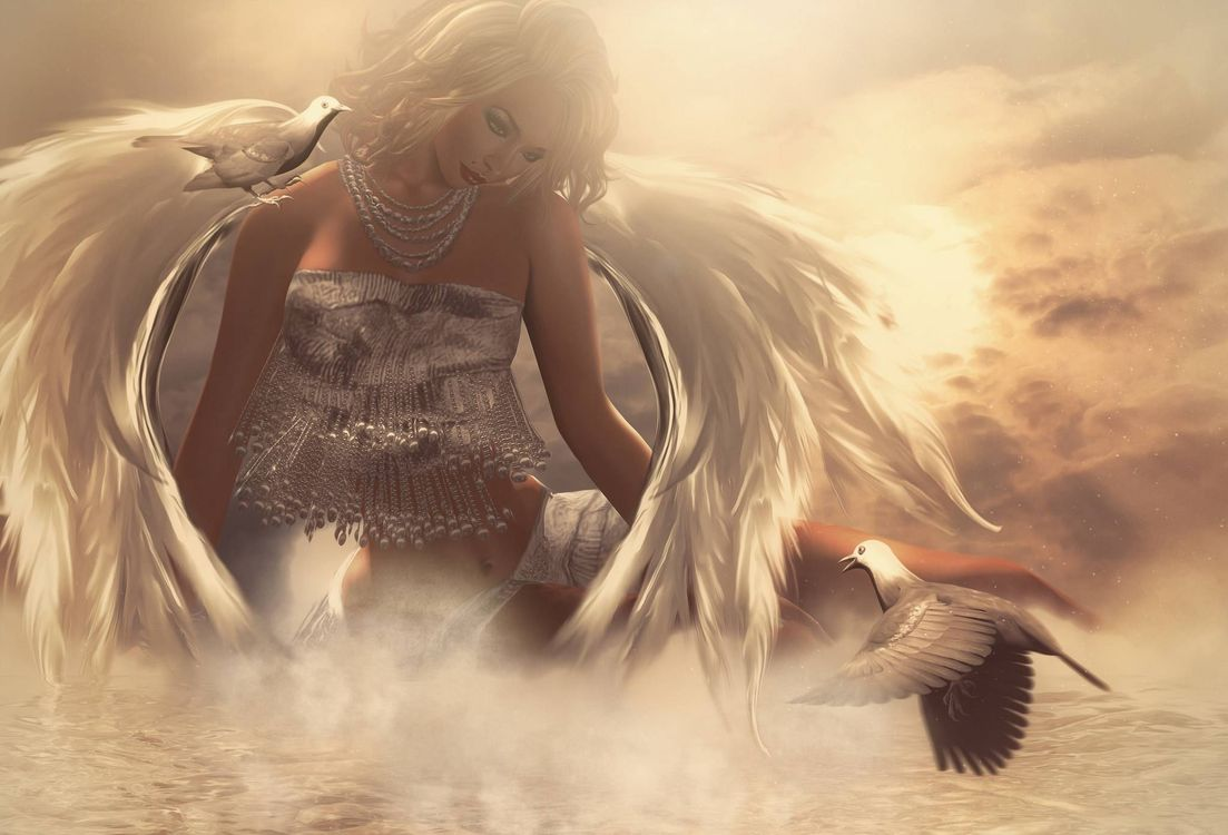 Фото бесплатно девушка, фантастическая девушка, ангел - на рабочий стол