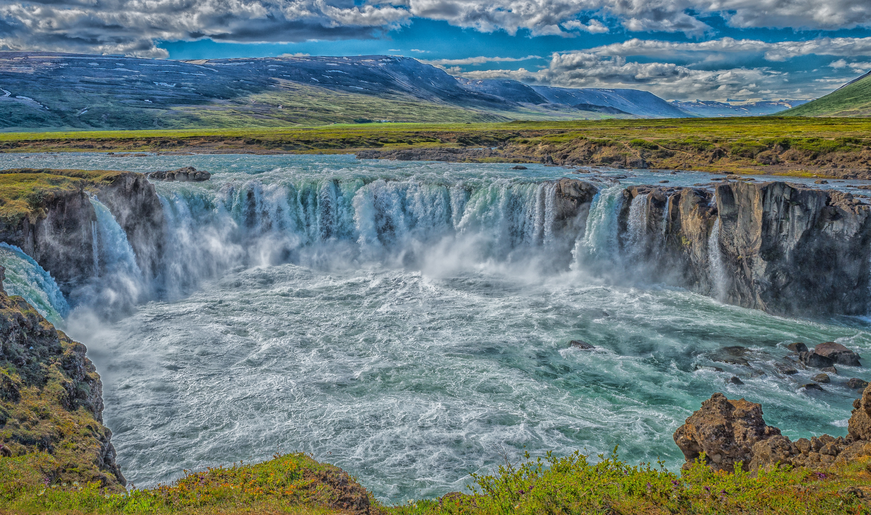 Godafoss, Iceland, водопад