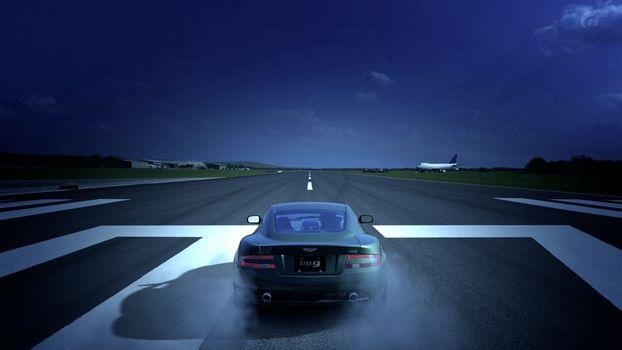 Фото бесплатно aston martin, аэродром, взлетная полоса