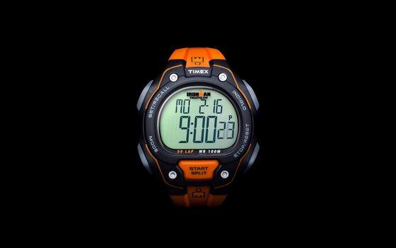 Фото бесплатно часы Timex, оранжево-синие