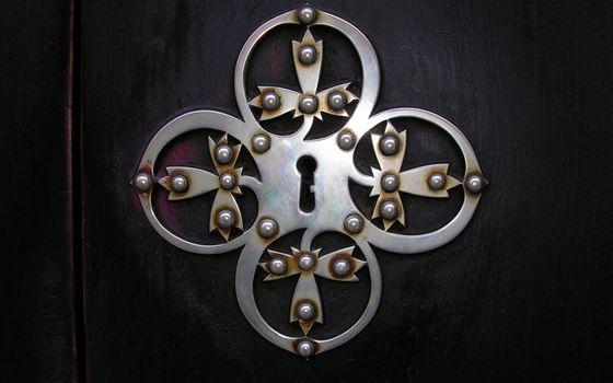 Фото бесплатно дверь, замочная скважина, металл
