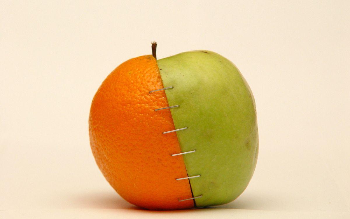 Фото бесплатно яблоко, скобы, фрукты - на рабочий стол