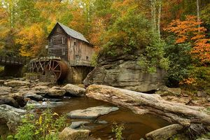 Бесплатные фото Glade Creek Grist Mill,Babcock State Park,West Virginia,осень,мельница,речка,лес