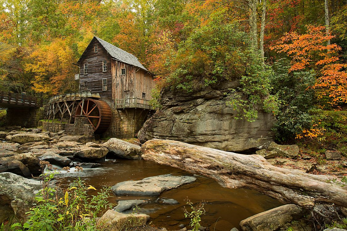 Free photo Glade Creek Grist Mill, Babcock State Park, West Virginia - to desktop