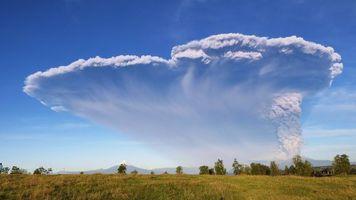 Photo free landscape, Calbuco Volcan, Vulcan Calvuco