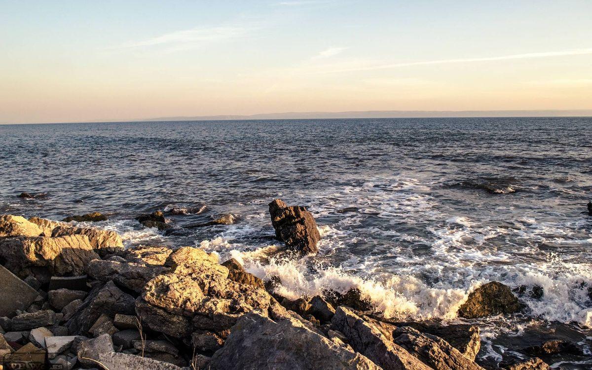 Фото бесплатно камни, скалы, море, волны, горизонт, небо, пейзажи