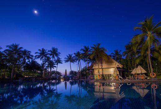 Фото бесплатно закат, дома, пейзаж