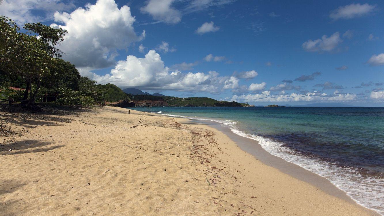 Фото бесплатно песок, море, облака - на рабочий стол