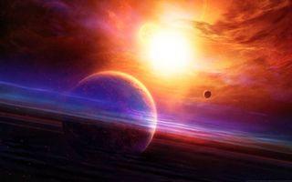 Бесплатные фото космос, планеты, солнце, свечение, вакуум, невесомость