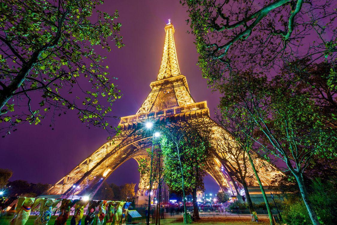 Красивые картинки эйфелева башня ночью