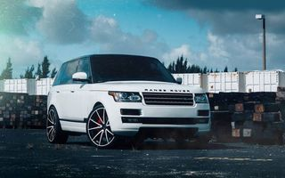Photo free Land Rover, Rang Rover, white
