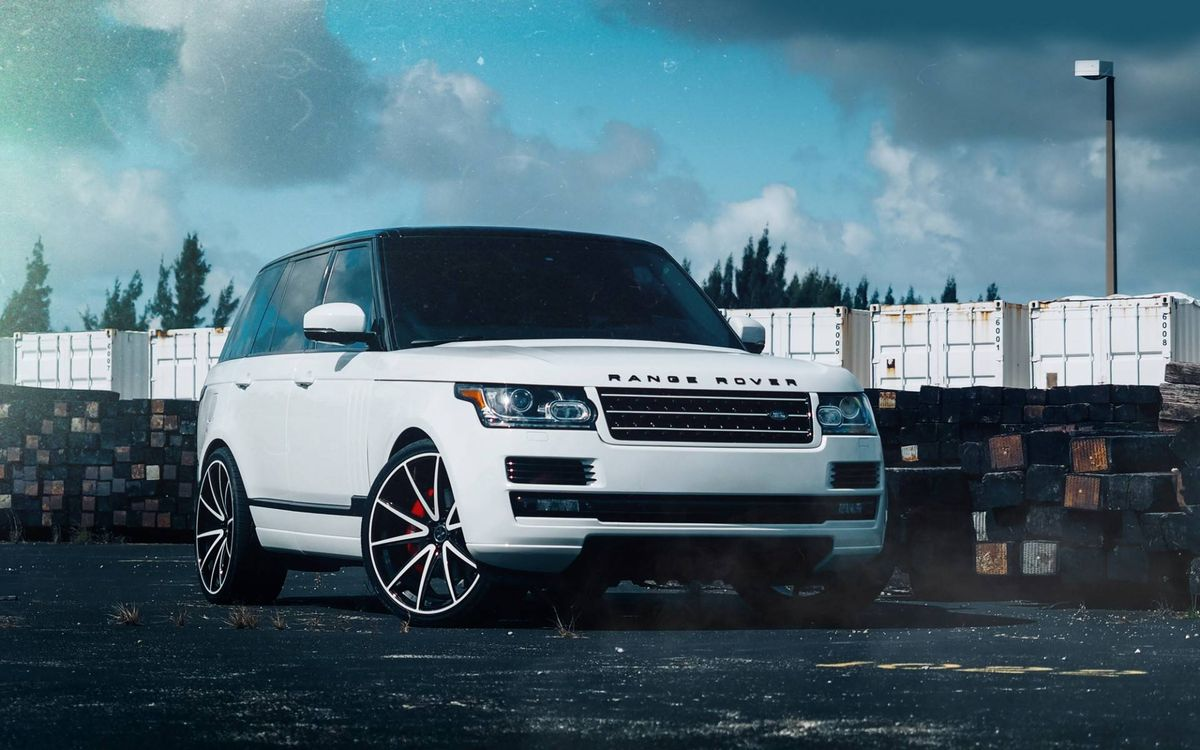 Фото бесплатно Land Rover, Rang Rover, белый - на рабочий стол