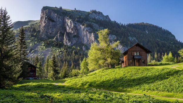 Заставки Швейцария, горы, скалы