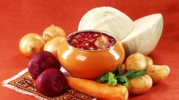 Photo free cast-iron, borsch, vegetables