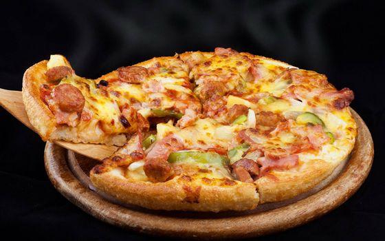 Фото бесплатно пицца, лопатка, ломтик