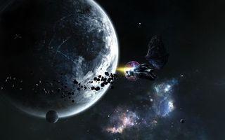 Фото бесплатно арт, созвездия, астероиды