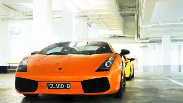 Фото бесплатно Ламборгини, подземная парковка, автомобиль