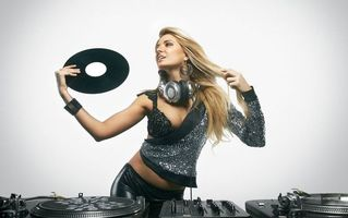 Photo free disco girl, girl DJ, music
