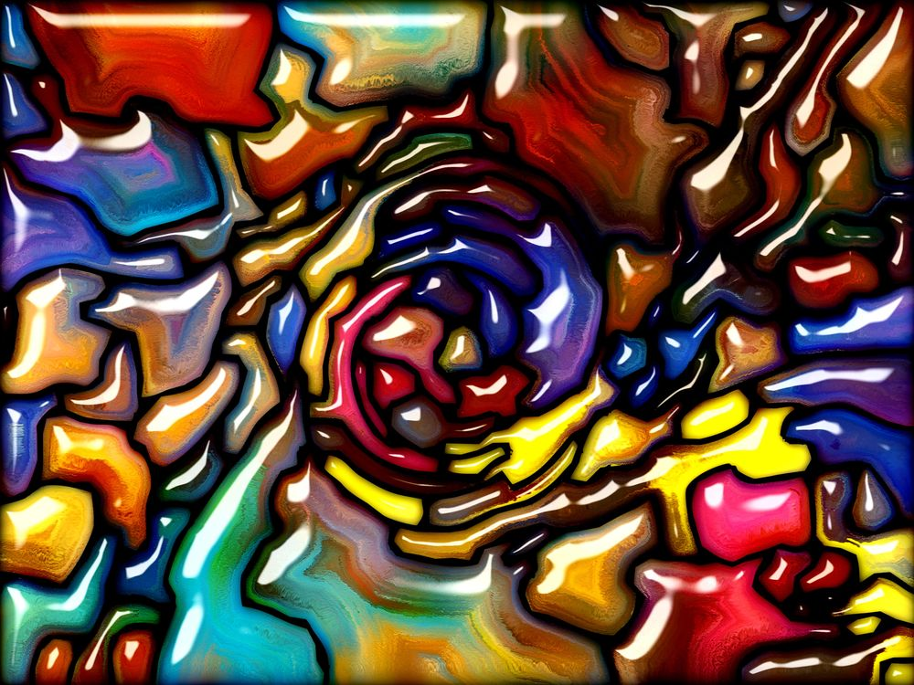 Colors painted 3D swirl · free photo