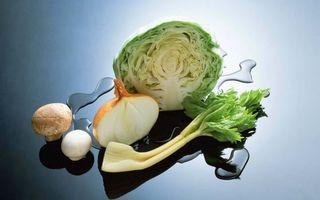 Бесплатные фото овощи,капуста,лук,грибы,зелень,поверхность,вода