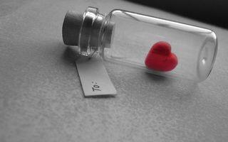 Сердечко в бутылке