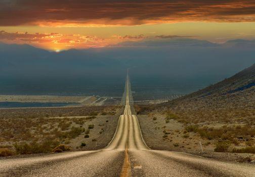 Фото бесплатно длинная дорога, поле