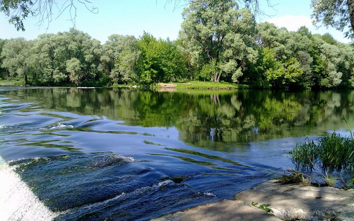 Фото бесплатно река, течение, платина, берег, деревья, трава, небо, пейзажи