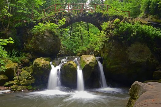 Бесплатные фото Schiessentumpel Mullerthal,Люксембург,Швейцария,лес,деревья,водопад,мост,арка,пейзаж