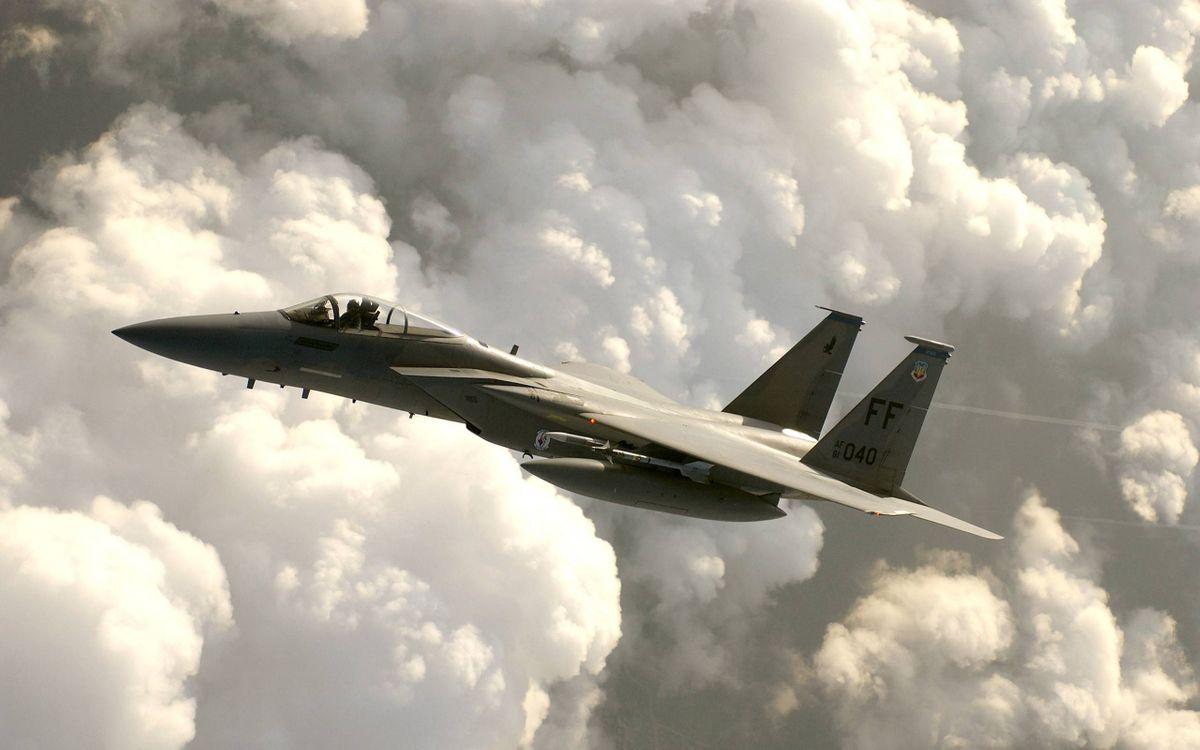 Фото бесплатно истребитель, f-15 eagle, авиация