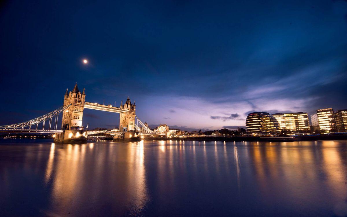 Фото бесплатно ночь, Лондон, Темза - на рабочий стол