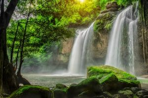 Бесплатные фото Водопад,Кхао Яй национальный парк,Таиланд,природа
