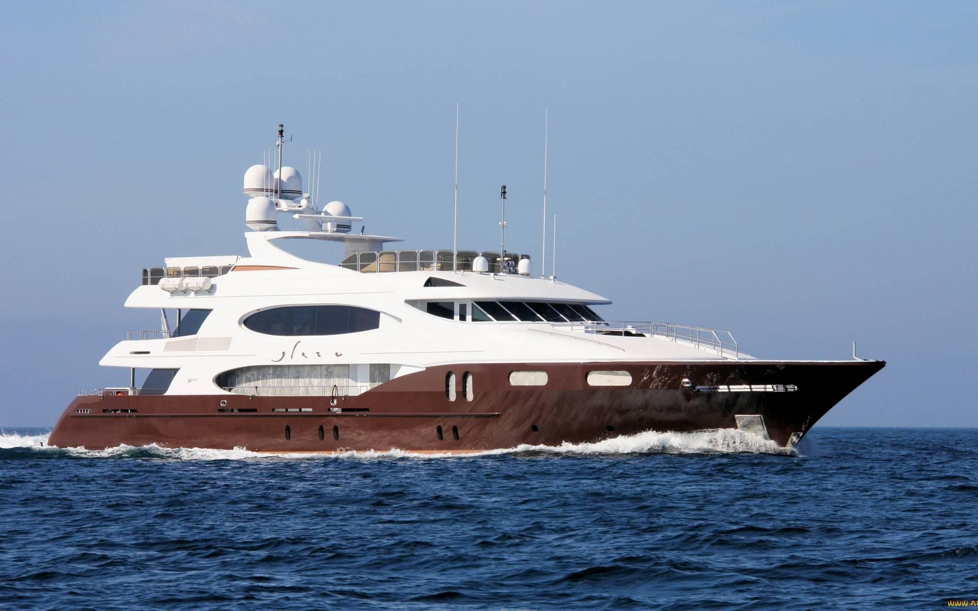 Обои яхта, стиль, палуба, антенны