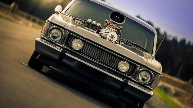 Photo free oil mask, headlights, grille