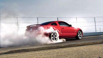 Бесплатные фото форд,мустанг,красный,диски,колеса,дым