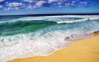 Фото бесплатно волны, песок, горизонт