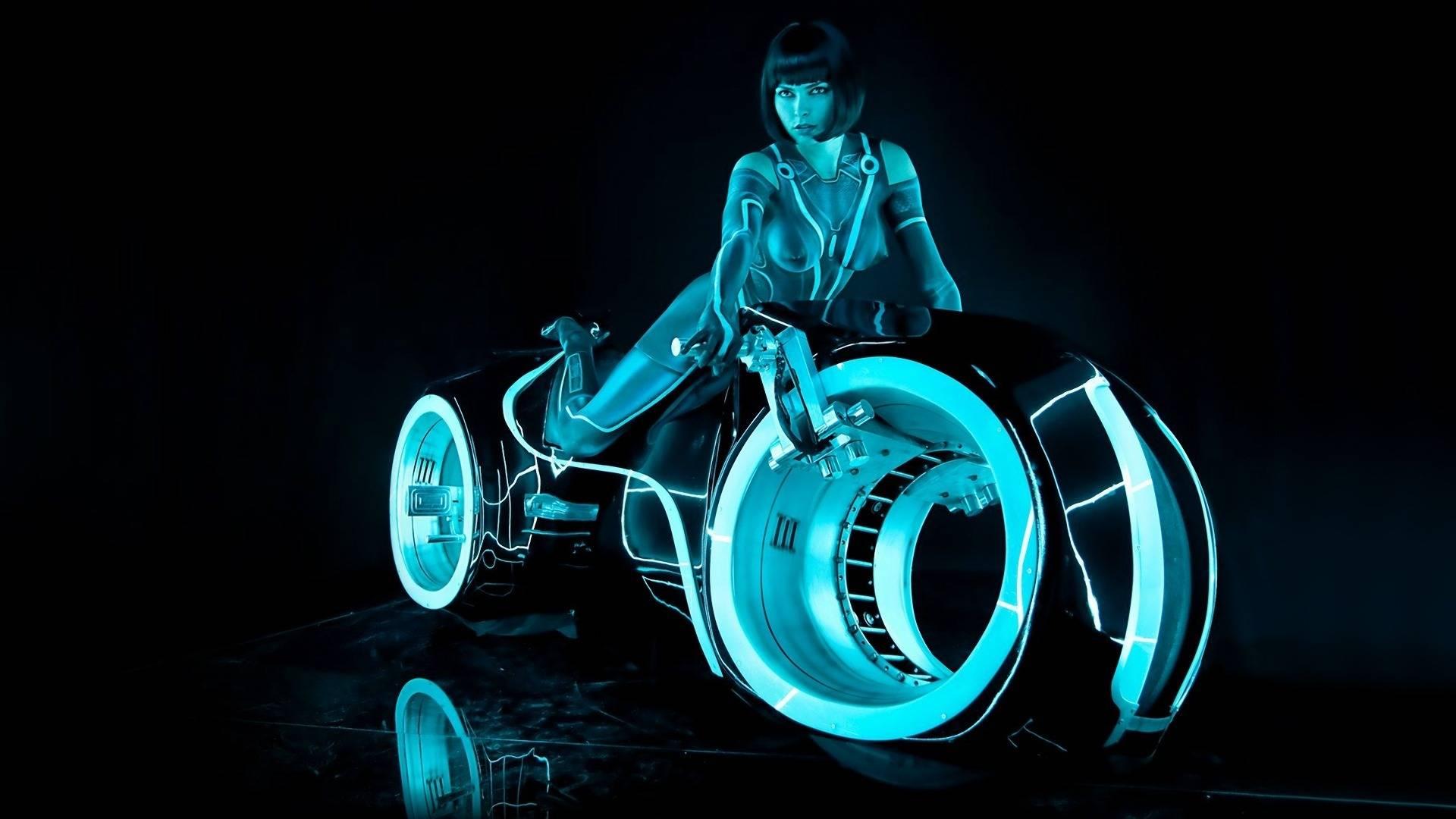 Обои мотоцикл, фильм Трон