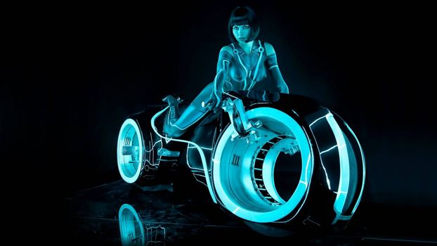 Photo free motorcycle, movie Tron
