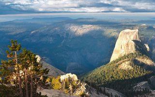 Бесплатные фото горы,вершины,скалы,деревья,небо,облака,природа