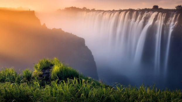 Заставки водопад, обрыв