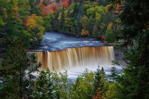 Фото бесплатно деревья, река, Мичиган